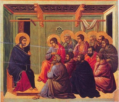 Kristus se poslavlja od apostolov, Duccio di Buoninsegna (1255-1319)